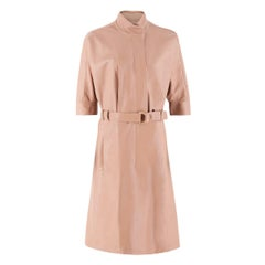 Calvin Klein Collection Sand Leather Trench Coat US 2