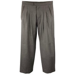 CALVIN KLEIN COLLECTION Size 30 Charcoal Wool Pleated Dress Pants