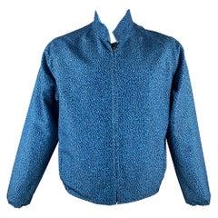 CALVIN KLEIN COLLECTION Size 44 Aqua Print Polyester Reversible Jacket