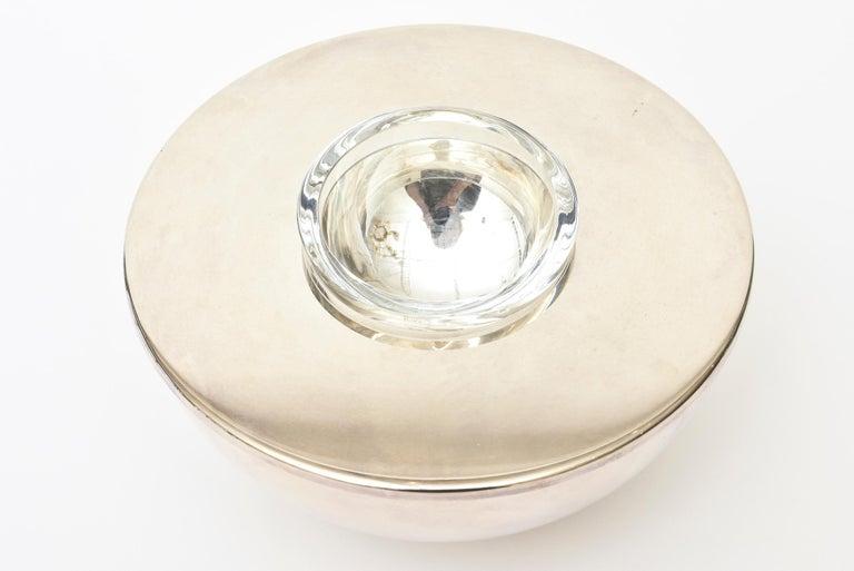 Modern Calvin Klein for Swid Powell Silver Plate Caviar Bowl Barware