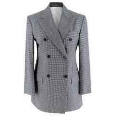 Calvin Klein Grey Checked Wool Blazer 38 IT