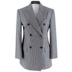 Calvin Klein Grey Checked Wool Blazer - Size US 0-2