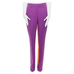 CALVIN KLEIN RAF SIMONS SS18 purple orange colour-block straight trousers US2 XS