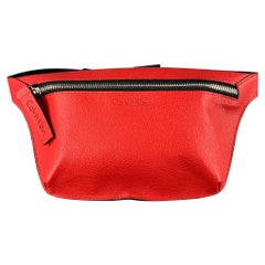 CALVIN KLEIN Red Pebble Grain Leather Fanny Pack