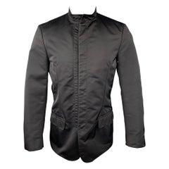 CALVIN KLEIN Size 36 Black Polyamide Hidden Snaps Jacket