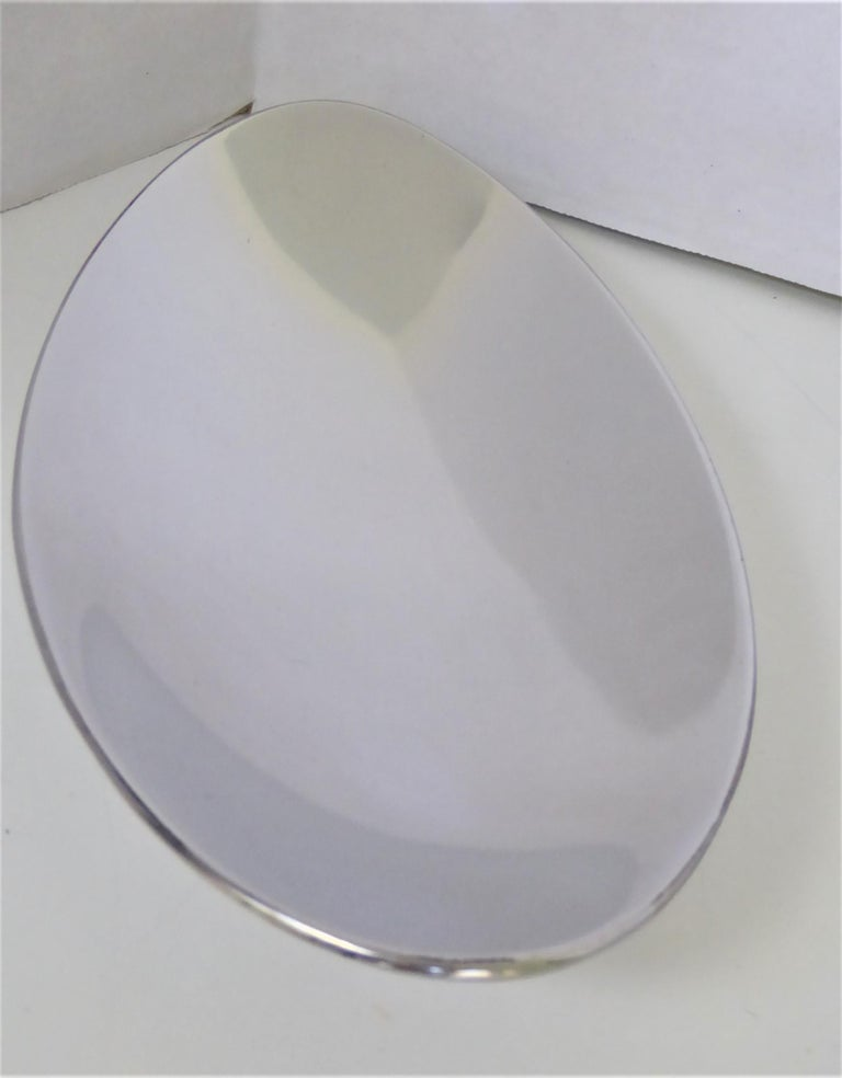 Calvin Klein Solar Platinum Hand Polished Metal 8 Boat Shaped Vessels For Sale 2