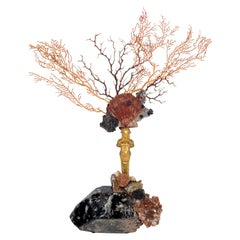 Calypso Coral Sea Fan Quartz Caryatid Sculpture