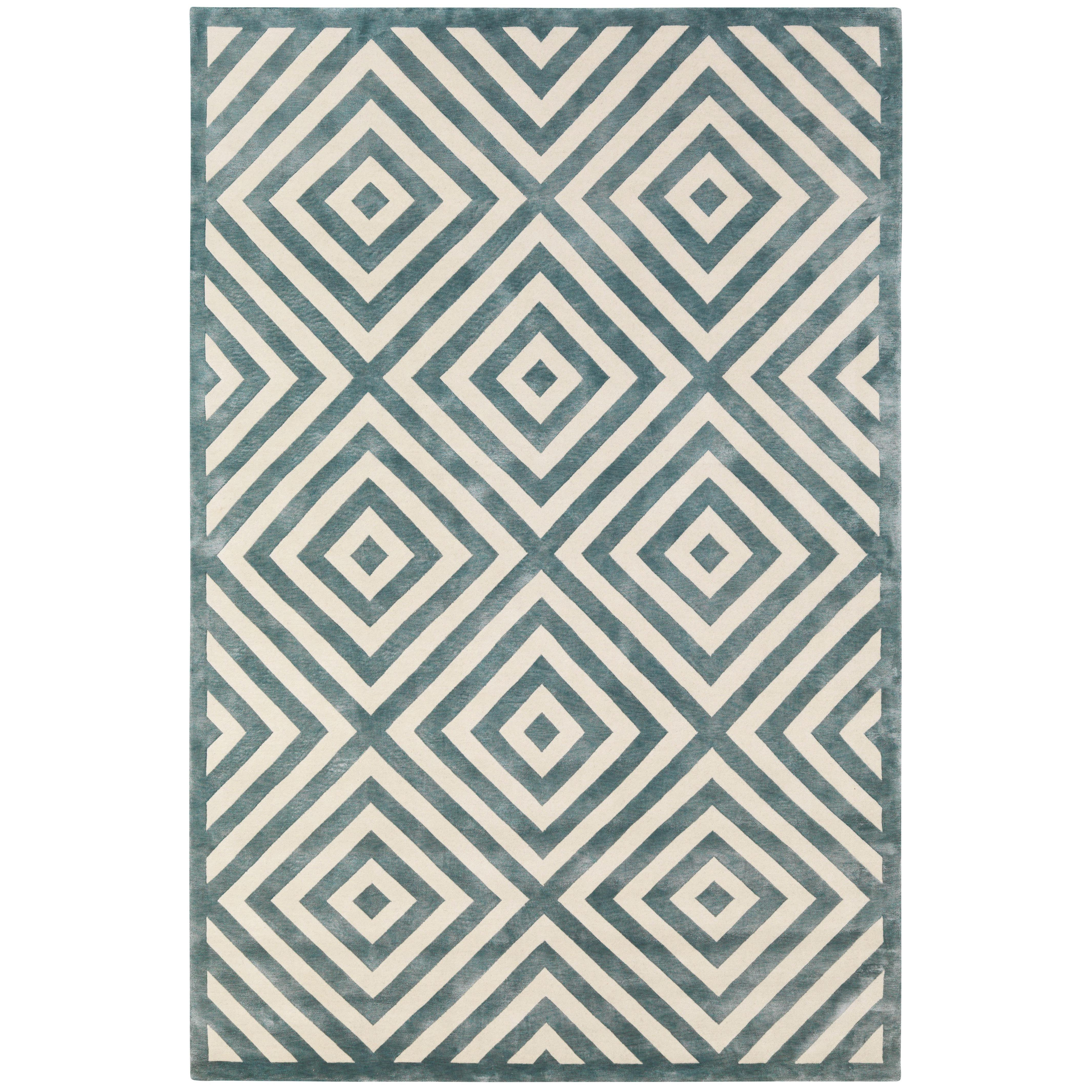 Calypso Hand-Knotted 10x8 Rug in Wool and Silk by Suzanne Sharp