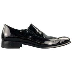 CALZOLERIA HARRIS for BARNEYS NEW YORK Size 10 Black Patent Leather Loafers