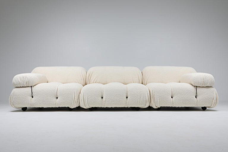 Camaleonda Bouclé Wool Sectional Sofa by Mario Bellini For Sale 2