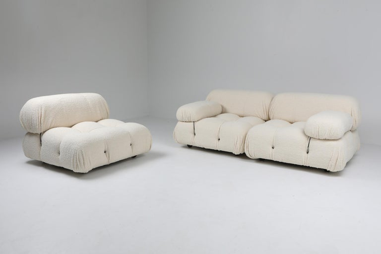 Camaleonda Bouclé Wool Sectional Sofa by Mario Bellini For Sale 3