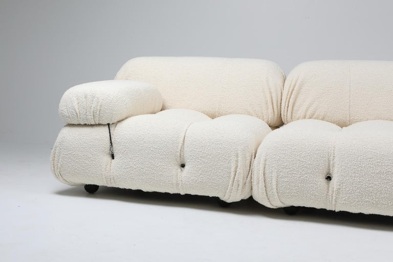 Mario Bellini, Italy 1970s, camaleonda sofa, reupholstered in bouclé wool
