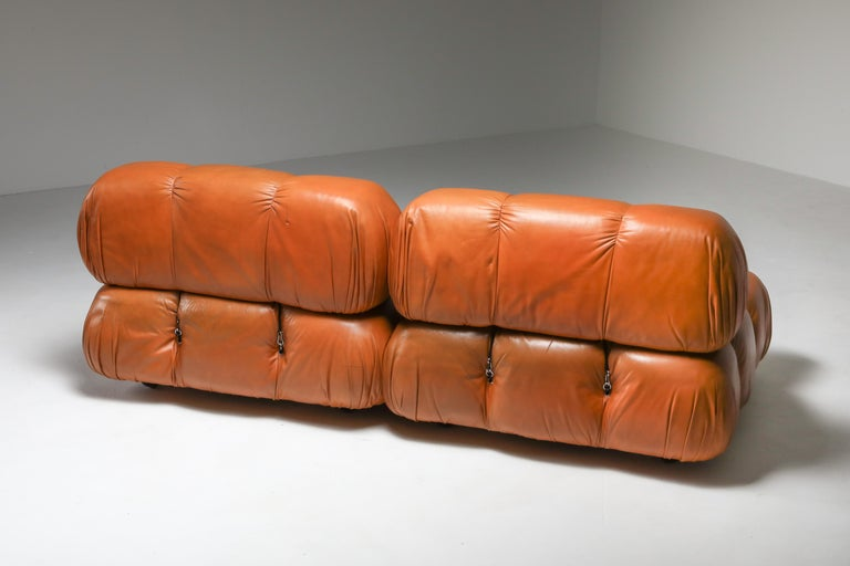 Camaleonda in Original Cognac Leather, 1970s In Good Condition For Sale In Antwerp, BE