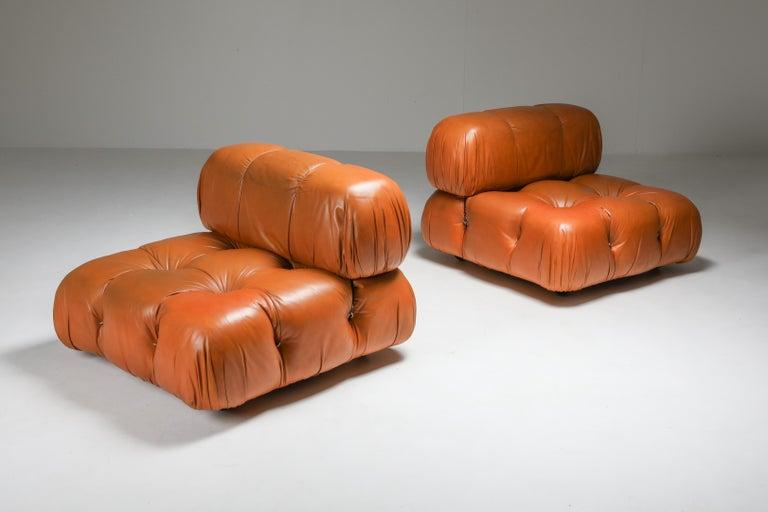 20th Century Camaleonda in Original Cognac Leather, 1970s For Sale
