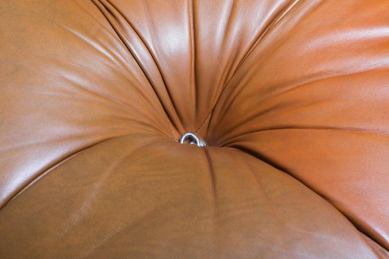 Camaleonda in Original Cognac Leather, 1970s For Sale 2