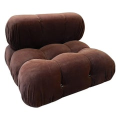 Camaleonda Lounge Chair by Mario Bellini 1972, in Original Brown Mohair