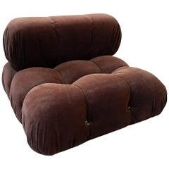 Camaleonda Lounge Chair by Mario Bellini 1972, in Original Brown Mohair