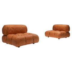 Camaleonda Lounge Chairs in New Cognac Leather by Mario Bellini