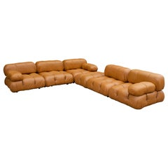 C&B Italia Camaleonda Sofa by Mario Bellini in Cognac Leather 1970s
