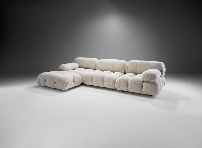 "The ""Camaleonda"" (Chameleon) sofa is Mario Bellini's contemporary classic. The playful, modular design offers endless options for the user, which also inspired the model's name. Camaleonda has passed through 5 decades of design history as a true"