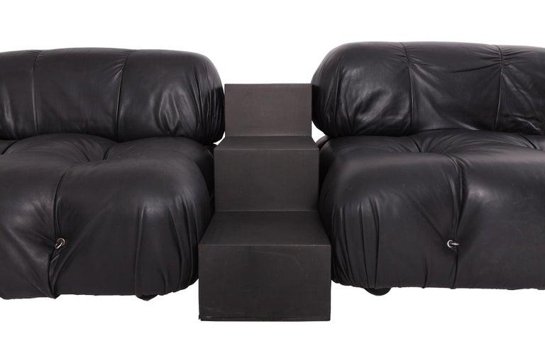 Camaleonda Modular Sofa in Black Leather by Mario Bellini For Sale 1