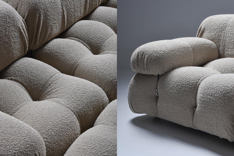 Camaleonda Modular Sofa in Taupe Boucle by Mario Bellini For Sale 3