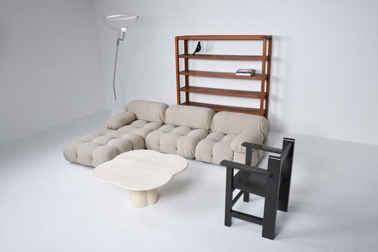 Post-Modern Camaleonda Modular Sofa in Taupe Boucle by Mario Bellini For Sale