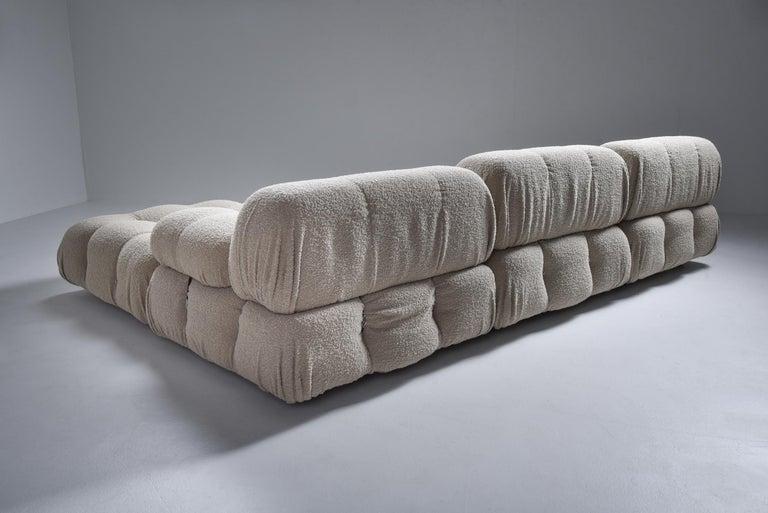 Late 20th Century Camaleonda Modular Sofa in Taupe Boucle by Mario Bellini For Sale