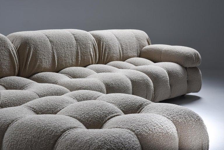 Bouclé Camaleonda Modular Sofa in Taupe Boucle by Mario Bellini For Sale