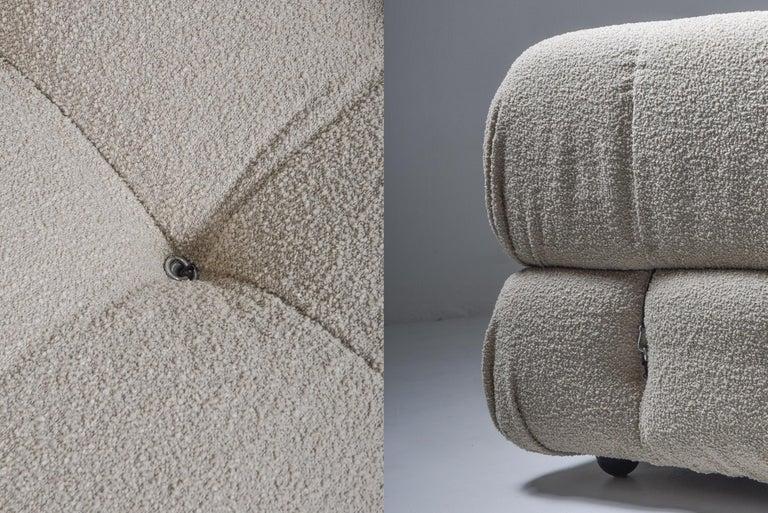 Camaleonda Modular Sofa in Taupe Boucle by Mario Bellini For Sale 1
