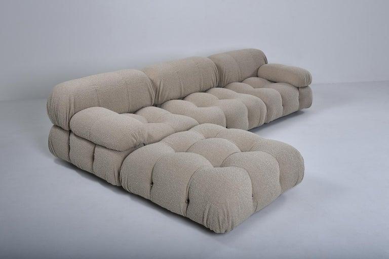 Camaleonda Modular Sofa in Taupe Boucle by Mario Bellini For Sale 2