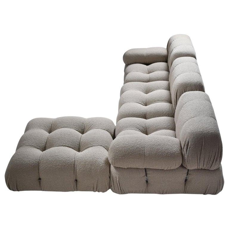 Camaleonda Modular Sofa in Taupe Boucle by Mario Bellini For Sale