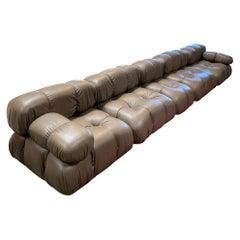 "Camaleonda Modular Sofa  in ""Moca"" Leather by Mario Bellini"
