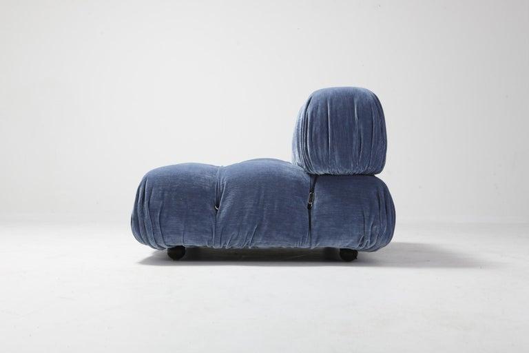 Velvet Camaleonda Pair of lounge chair by Mario Bellini For Sale