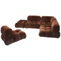 Camaleonda sectional sofa by Mario Bellini in original brown velvet