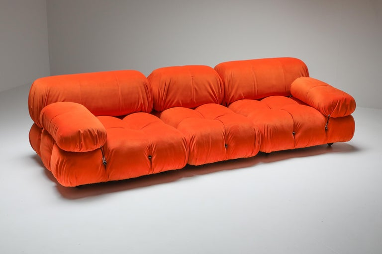 Mario Bellini's 'camaleonda' sectional couch, B&B Italia, Italy, 1970s