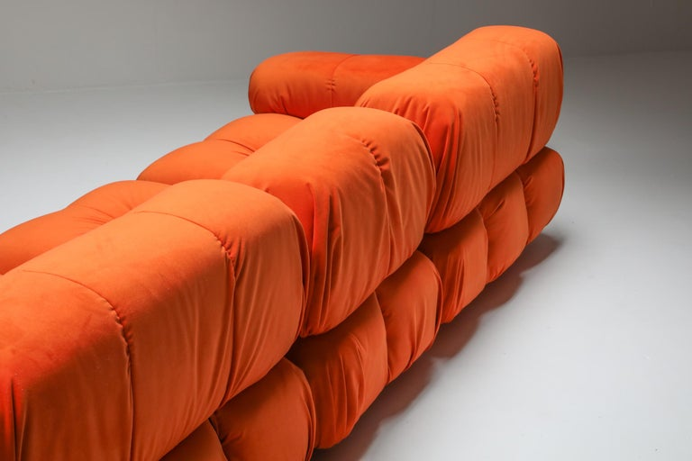 Post-Modern Camaleonda Sectional Sofa in Bright Orange For Sale