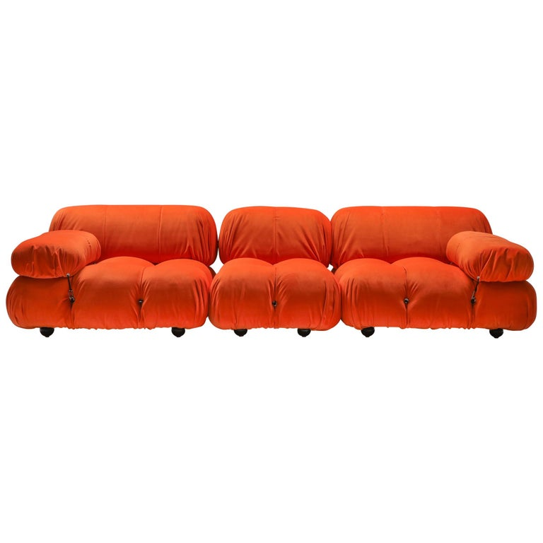 Camaleonda Sectional Sofa in Bright Orange For Sale