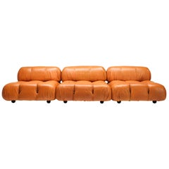 Camaleonda Sectional Sofa in Original Cognac Leather