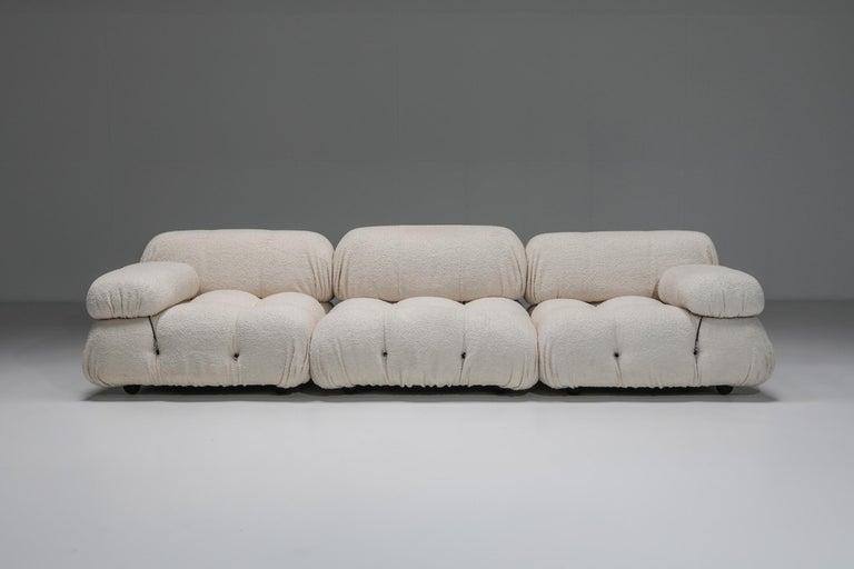 Post-Modern Camaleonda Sofa in Boucle Wool by Mario Bellini For Sale