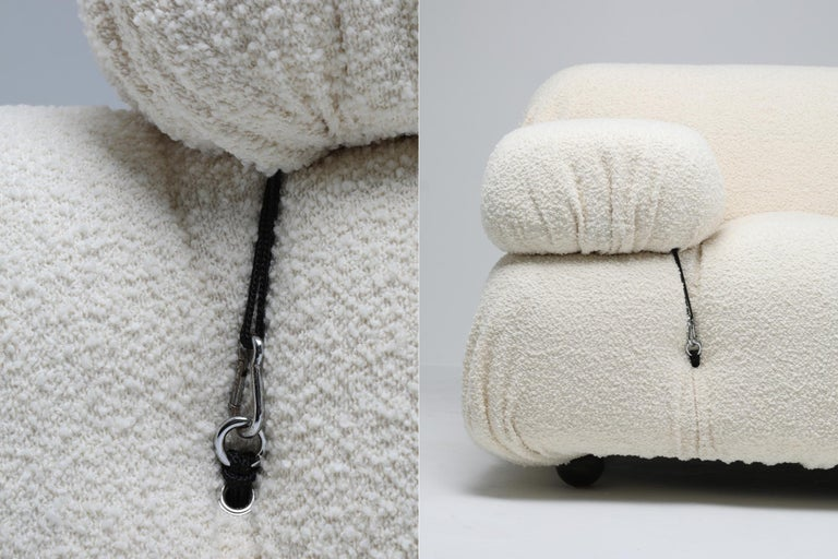 European Camaleonda Sofa in Boucle Wool by Mario Bellini For Sale