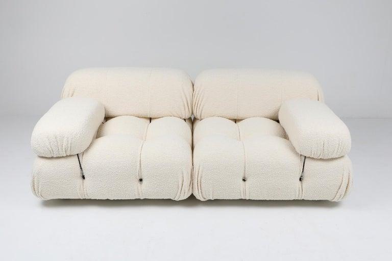 Camaleonda Sofa in Boucle Wool by Mario Bellini For Sale 1