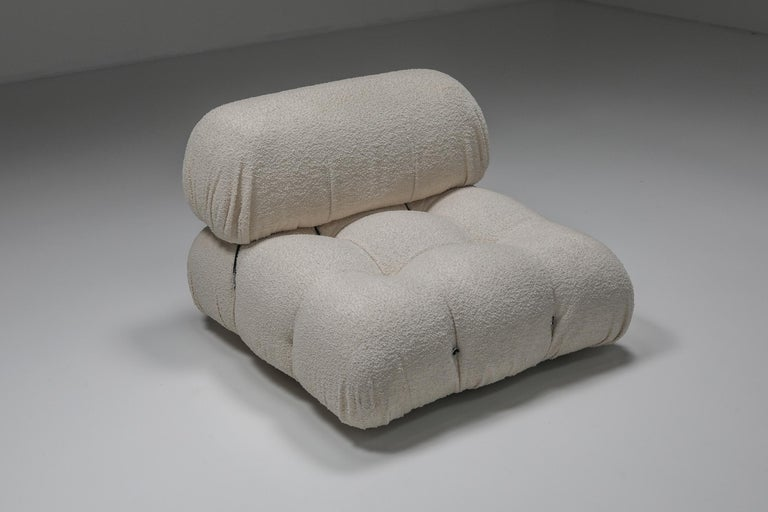 Camaleonda Sofa in Boucle Wool by Mario Bellini For Sale 3