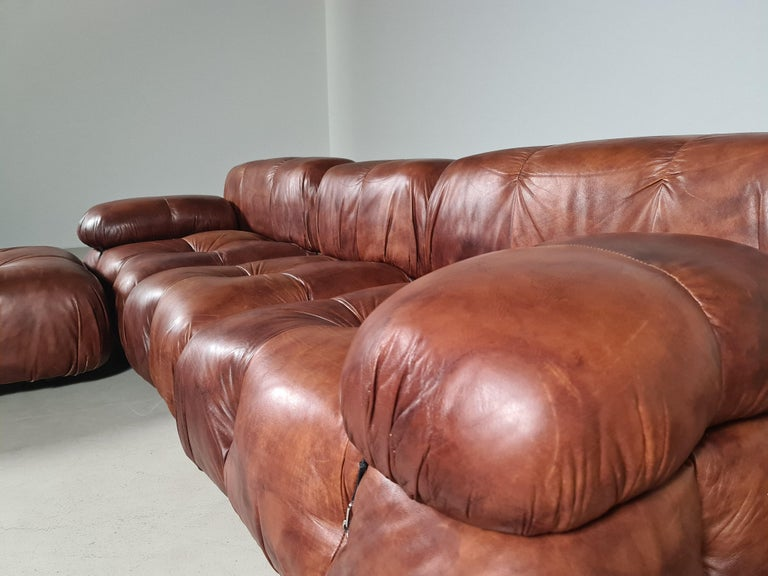 Camaleonda Sofa in Original Leather by Mario Bellini for B&B Italia, 1973 For Sale 1