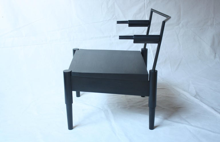 Blackened Camber Handmade Lounge Chair by Laylo Studio For Sale