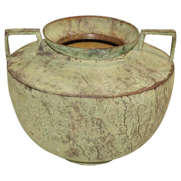 Cambodian Copper Bowl, Cpntemporary For Sale