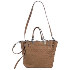 Camel Brown Bottega Veneta Intrecciato Leather Satchel