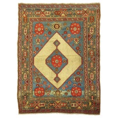 Camel FIeld Hamedan Serab Decorative Rug Square Size Mat