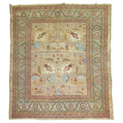 Camel Field Persian Bakshaish Square Size Rug