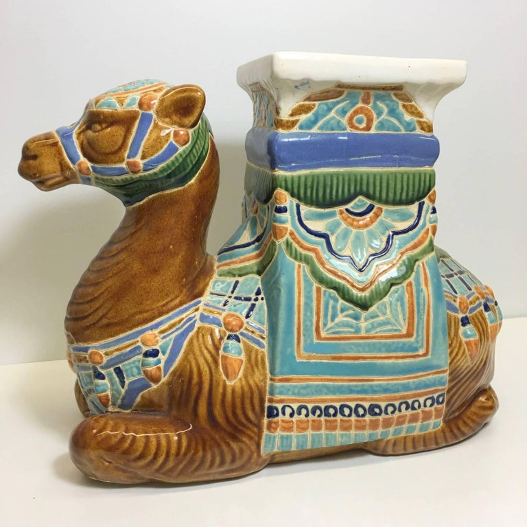 20th Century Camel Garden Stool or Side Table Patio Decoration For Sale